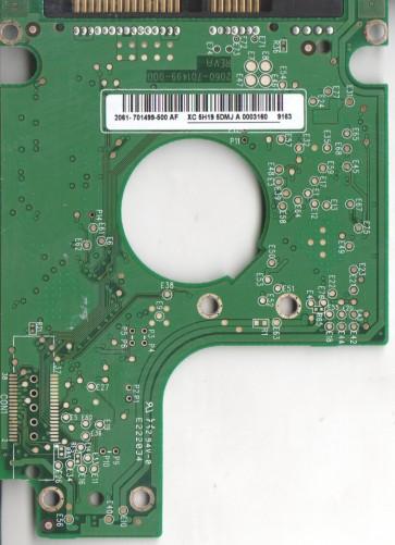 WD2500BEVT-00ZCT0, 2061-701499-500 AF, WD SATA 2.5 PCB