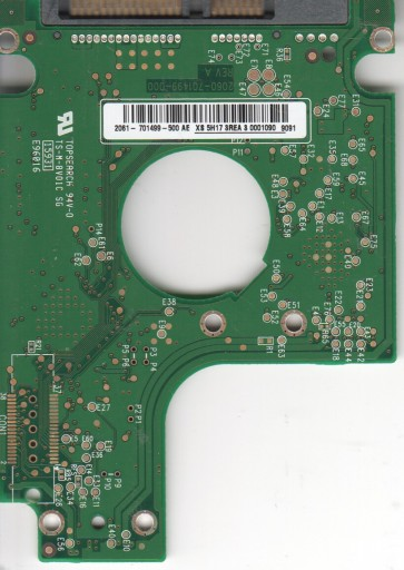WD1600BEVT-75ZCT1, 2061-701499-500 AE, WD SATA 2.5 PCB