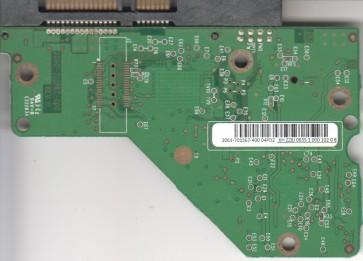 WD7501AALS-00J7B0, 2061-701567-400 04PD2, REV A, WD SATA 3.5 PCB