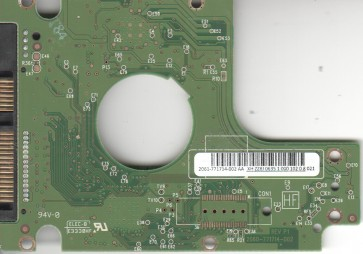 WD5000BEKT-60KA9T0, 2061-771714-002 AA, WD SATA 2.5 PCB