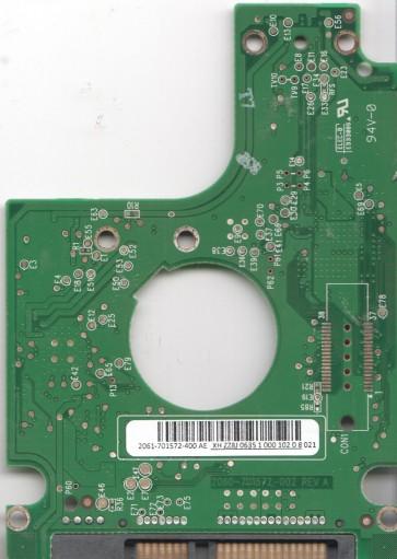 WD3200BEVT-00ZAT0, 2061-701572-400 AE, WD SATA 2.5 PCB