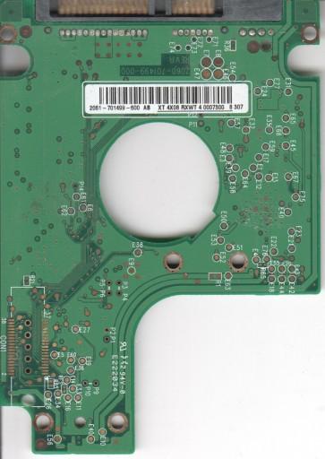 WD1200BEVS-75UST0, 2061-701499-600 AB, WD SATA 2.5 PCB