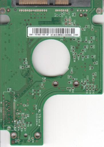 WD2500BEVS-75UST0, 2061-701499-600 AF, WD SATA 2.5 PCB