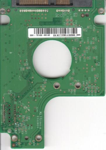 WD2500BEVS-00UST0, 2061-701499-600 AD, WD SATA 2.5 PCB