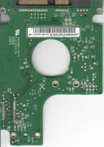 WD2500BEVS-26UST0, 2061-701499-600 AG, WD SATA 2.5 PCB