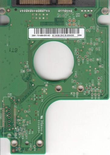WD1600BEVS-08VAT2, 2061-701499-E00 AD, REV A, WD SATA 2.5 PCB