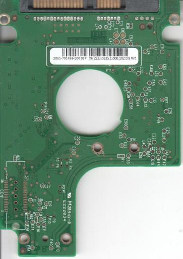 WD2500BEVT-60ZCT1, 2061-701499-E00 03P, WD SATA 2.5 PCB