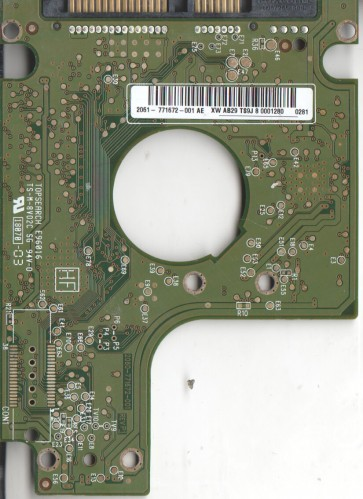 WD2500BEVT-22A23T0, 2061-771672-001 AE, WD SATA 2.5 PCB