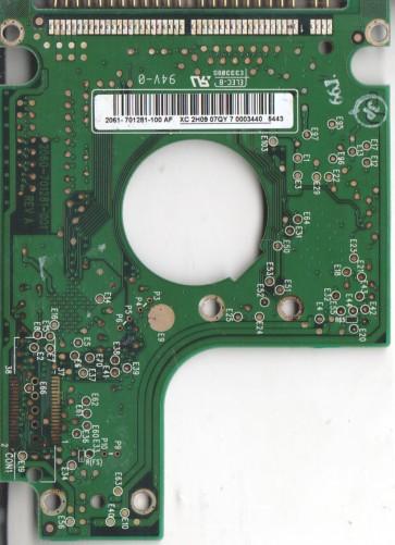 WD400UE-00HCT0, 2061-701281-100 AF, WD IDE 2.5 PCB