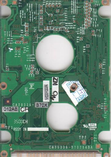 MHK2120AT, PN CA05366-B01400DL, Fujitsu 12GB IDE 2.5 PCB