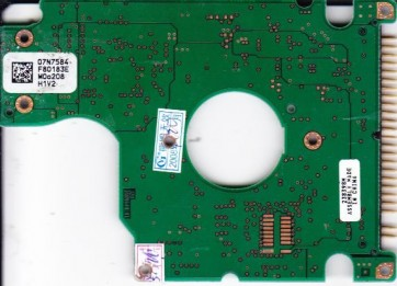 IC25N040ATCS04-0, PN 07N8327, 07N7584 F70183E, Hitachi 40GB IDE 2.5 PCB