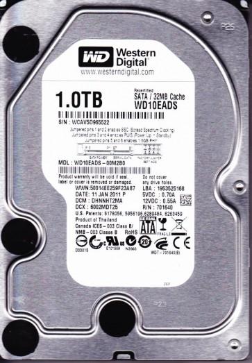 WD10EADS-00M2B0, DCM DHNNHT2MA, Western Digital 1TB SATA 3.5 Hard Drive