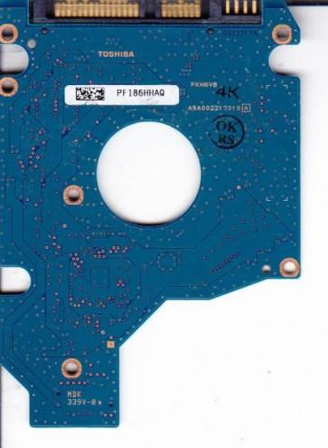 MK3252GSX, HDD2H01 B ZK01 T, G002217A, Toshiba 320GB SATA 2.5 PCB