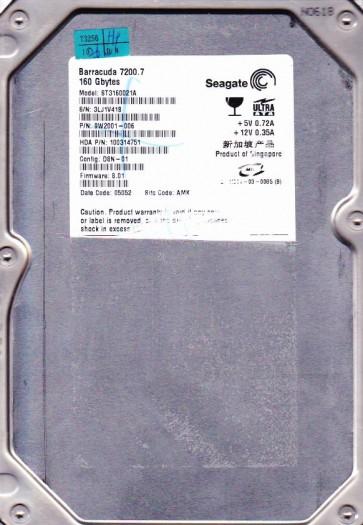 ST3160021A, 3LJ, AMK, PN 9W2001-006, FW 8.01, Seagate 160GB IDE 3.5 Hard Drive