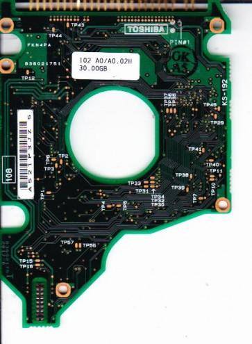 MK1517GAP, HDD2157 S ZF01 T, B36021752017-B, Toshiba 15GB IDE 2.5 PCB
