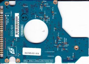 MK4021GAS, HDD2182 F ZE01 T, G5B000211000-A, Toshiba 40GB IDE 2.5 PCB