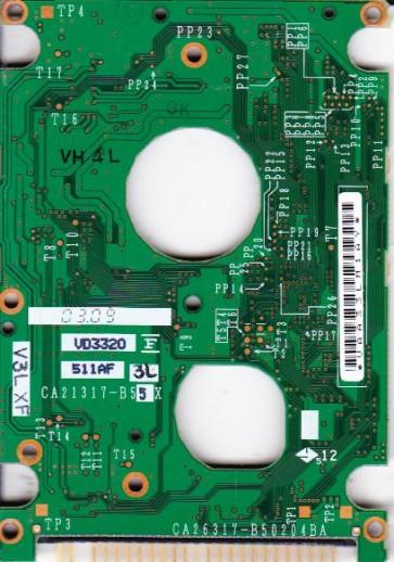 MHS2020AT, PN CA06272-B86200DL, Fujitsu 20GB IDE 2.5 PCB