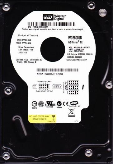 WD2500JB-57GVC0, DCM DSCHCT2CH, Western Digital 250GB IDE 3.5 Hard Drive