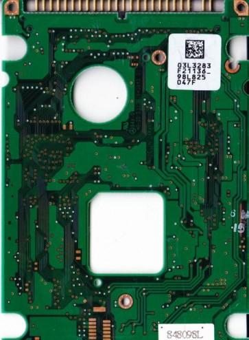 DYLA-28100, 03L3283 F21136_, PN 00K4141, IBM 8GB IDE 2.5 PCB