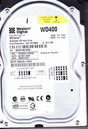WD400JB-00ENA0, DCM ESBACT2CH, Western Digital 40GB IDE 3.5 Hard Drive