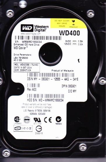 WD400BB-75JHA0, DCM DSBACTJCA, Western Digital 40GB IDE 3.5 Hard Drive