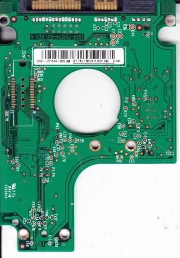 WD3200BEKT-22F3T0, 2061-701574-D00 AB, WD SATA 2.5 PCB