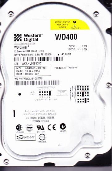 WD400JB-00ETA0, DCM HSCHCTJCH, Western Digital 40GB IDE 3.5 Hard Drive