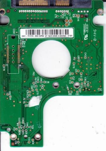 WD3200BEKT-00F3T0, 2061-771574-D00 03PD2, WD SATA 2.5 PCB