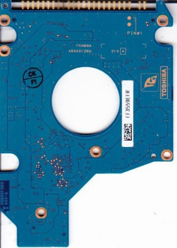 MK1031GAS, HDD2A02 U ZK02 T, G5B001283000-A, Toshiba 100GB IDE 2.5 PCB