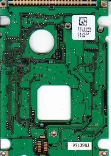 DCXA-210000, PN 25L2716, 25L2495 F22064A, IBM 10.05GB IDE 2.5 PCB