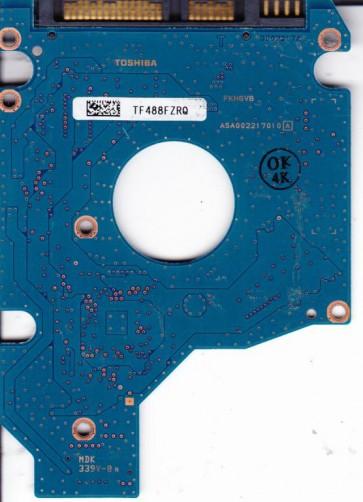 MK1652GSX, HDD2H03 C VL01 T, G002217A, Toshiba 160GB SATA 2.5 PCB