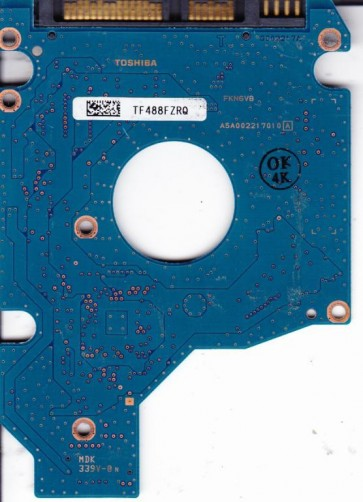 MK1652GSX, HDD2H03 F VL01 S, G002217A, Toshiba 160GB SATA 2.5 PCB
