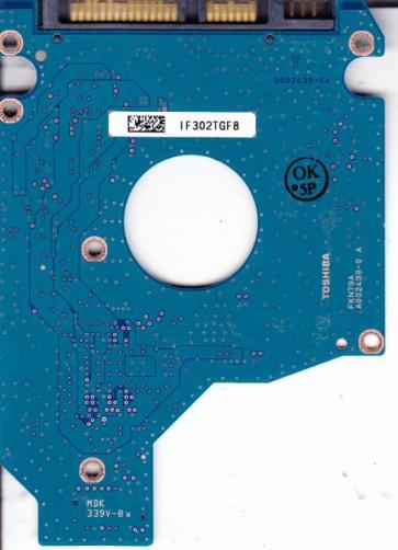 MK1655GSX, A0/FG011C, HDD2H25 F VL01 T, G002439-0A, Toshiba SATA 2.5 PCB