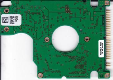 HTS548080M9AT00, PN 08K0639, 08K2826 H71451A, Hitachi 80GB IDE 2.5 PCB