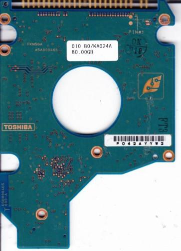 MK8025GAS, HDD2188 B ZK01 S, G5B000465000-A, Toshiba 80GB IDE 2.5 PCB