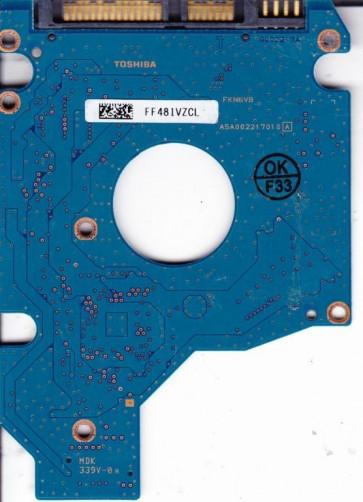 MK2546GSX, HDD2D90 F VL01 S, G002217A, Toshiba 250GB SATA 2.5 PCB