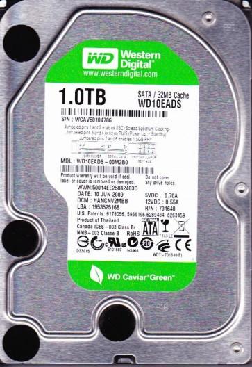 WD10EADS-00M2B0, DCM HANCNV2MBB, Western Digital 1TB SATA 3.5 Hard Drive