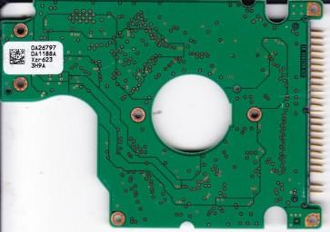 HTS541040G9AT00, PN 13G1582, 0A26797 DA1188A, Hitachi 40GB IDE 2.5 PCB