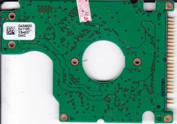 HTS541280H9AT00, PN 0A50107, 0A26820 DA1195_, Hitachi 80GB IDE 2.5 PCB