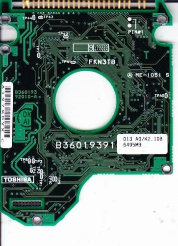 MK6412MAT, HDD2136 C ZF01 T, B36019392010-A, Toshiba 6.5GB IDE 2.5 PCB