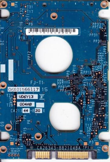 MHV2200BT, PN CA06596-B52100SN, CA26343-B82104BA, Fujitsu 200GB SATA 2.5 PCB