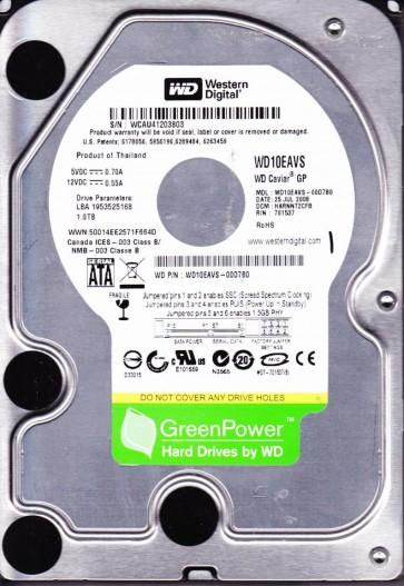 WD10EAVS-00D7B0, DCM HARNNT2CFB, Western Digital 1TB SATA 3.5 Hard Drive