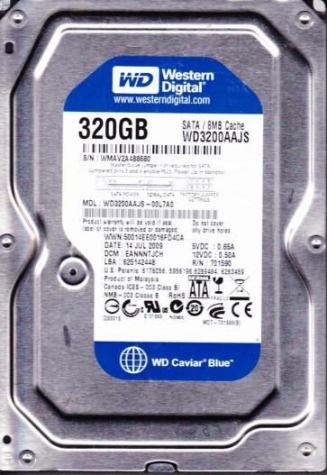 WD3200AAJS-00L7A0, DCM EANNNTJCH, Western Digital 320GB SATA 3.5 Hard Drive