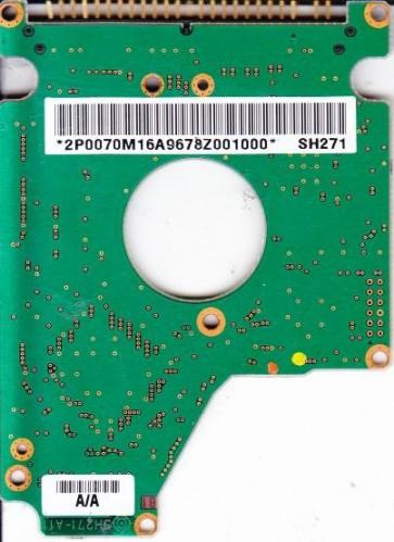 DK23BA-20E, B/A0C0 A/A, SH271, Hitachi 20GB IDE 2.5 PCB