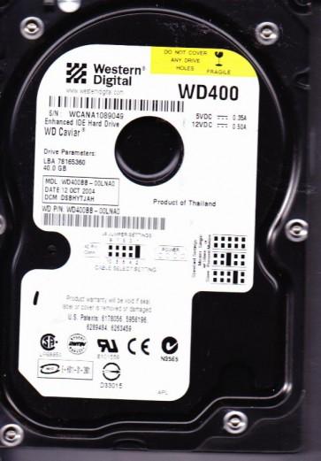 WD400BB-00LNA0, DCM DSBHYTJAH, Western Digital 40GB SATA 3.5 Hard Drive