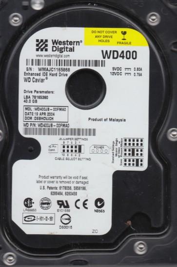 WD400JB-00FMA0, DCM DSBHCVJCH, Western Digital 40GB IDE 3.5 Hard Drive