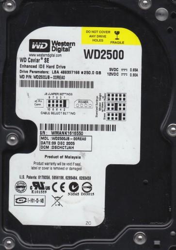 WD2500JB-00REA0, DCM DSCHCTJAH, Western Digital 250GB IDE 3.5 Hard Drive