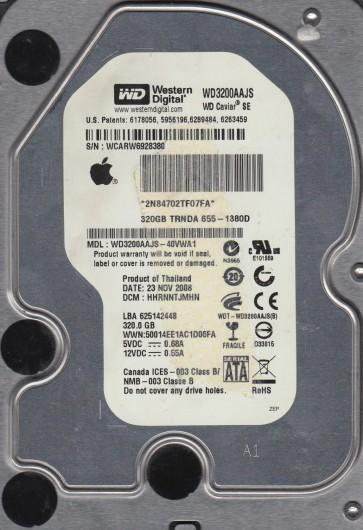 WD3200AAJS-40VWA1, DCM HHRNNTJMHN, Western Digital 320GB SATA 3.5 Hard Drive