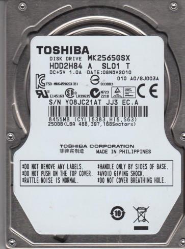 MK2565GSX, A0/GJ003A, HDD2H84 A SL01 T, Toshiba 250GB SATA 2.5 Hard Drive