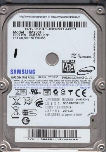 HM250HI, HM250HI/CN1, FW 2AC101C4, Samsung 250GB SATA 2.5 Hard Drive